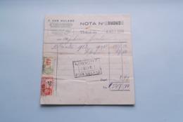 F. Van NULAND WISSELAGENT BORGERHOUT Antwerpen > Nota Anno 1933 ( Zie Foto's ) 1 Stuk ! - Banque & Assurance