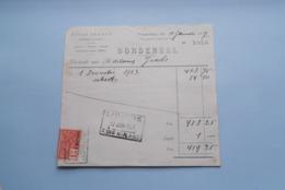 F. Van NULAND WISSELAGENT BORGERHOUT Antwerpen > BORDEREEL Anno 1927 ( Zie Foto's ) 1 Stuk ! - Banque & Assurance