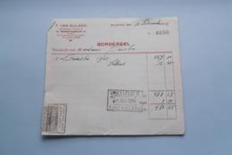 F. Van NULAND WISSELAGENT BORGERHOUT Antwerpen > BORDEREEL Anno 1924 ( Zie Foto's ) 1 Stuk ! - Bank & Insurance