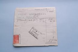 F. Van NULAND WISSELAGENT BORGERHOUT Antwerpen > BORDEREEL Anno 1927 ( Zie Foto's ) 1 Stuk ! - Banca & Assicurazione