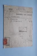 F. Van NULAND WISSELAGENT BORGERHOUT Antwerpen > BORDEREEL Van Aankoop Anno 1928 ( Zie Foto's ) 1 Stuk ! - Banca & Assicurazione