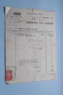 F. Van NULAND WISSELAGENT BORGERHOUT Antwerpen > BORDEREEL Van Aankoop Anno 1931 ( Zie Foto's ) 1 Stuk ! - Banca & Assicurazione