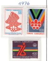 SPORT - OLYMPIC GAMES - 1976 - TURCHIA -  Mi. Nr.  2398/400 - NH - (6532-47) - 1921-... República