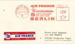 AFS Frankfurt Main Air France Caravelle Berlin - Illustriertes Firmenbriefstück - Briefe U. Dokumente