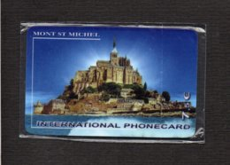 Télécarte Prépayée International Phonecard à 7,50 Euros Avec Code à Gratter / Mont St Michel (neuve Blister ) - Francia