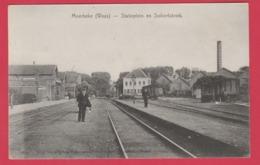 Moerbeke-Waas - Statieplein En Suikerfabriek - 190? ( Verso Zien ) - Moerbeke-Waas