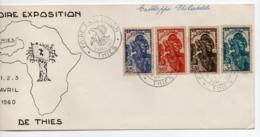 Enveloppe GUINEE Foire Exposition Oblitération THIES 02/04/1960 - Guinea (1958-...)