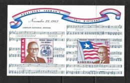 LIBERIA BLOC 1965 PRESIDENT TUBMAN YVERT N°B35 NEUF MNH** - Liberia