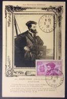 CM39  Carte Maximum 296 Jacques Cartier Saint Malo - 1930-39