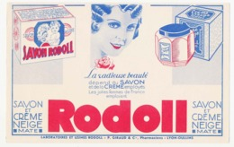Buvard 21.3 X 13.5 RODOLL Savon Et Crème Neige  P. Giraud & Cie Pharmaciens Lyon-Oullins Rhône - Wassen En Poetsen