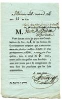 MAINE ET LOIRE De VILLEBERNIER Imprimé Des Contributions Du 21/03/1808 (verso Vierge) - Manuscrits