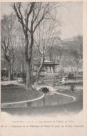 Isère : GRENOBLE : Les Jardins De L'hotel De Ville ( Collection De La Fabrique De Gants De Peau, A. - FAVEL ) Précurseur - Grenoble