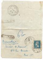 Lettre Pneumatique 1925 Paris, 62 Rue Saint Ferdinand, 43 Rue Littré. - Non Classés