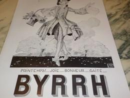 ANCIENNE PUBLICITE PRINTEMPS JOIE BYRRH 1931 - Alcools