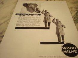 ANCIENNE PUBLICITE SEMELLE COLLECTION WOOD MILNE   1931 - Autres