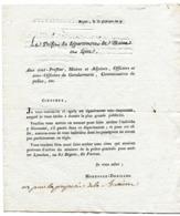 MAINE ET LOIRE De ANGERS  Circulaire Du Prefet Du 1/02/1801 ( Pas De Marque Postale) - Manuscrits