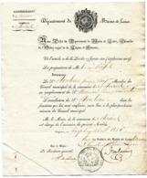 MAINE ET LOIRE De ANGERS  Circulaire Du Prefet Du 26/04/1826 Nomination AUX ROSIERS (verso Vierge) - Manuscrits