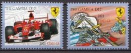 Gambia MNH Pair, Ferrari - Cars