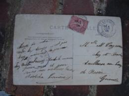Saint Gervais Cachet Perle Facteur Boitier Obliteration Sur Lettre - Storia Postale