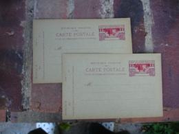 Entier Postal 45 C Rouge Exposition Internationale Arts Decoratifs Lot De 2 - Postwaardestukken