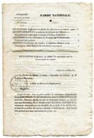MAINE ET LOIRE De ANGERS  Circulaire De La GARDE NATIONALE Du 19/071831 Avec Dateur T 13 Du 25/07/1831 ( 4 Pages) - Manuscrits
