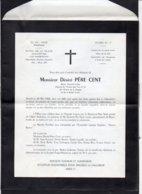 Militaria 1958 Père Cent /  Faire-part De Mr Désiré Père Cent De La Base Aérienne BA 164 à Atar Mauritanie Classe 58 / 3 - Décès