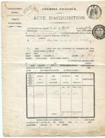MAINE ET LOIRE De BOUCHEMAINE Acte D'achat D'un Jardin à LA POINTE Du 30/06/1872 - Manuscrits