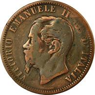 Monnaie, Italie, Vittorio Emanuele II, 10 Centesimi, 1866, Strasbourg, B - 1861-1946 : Royaume
