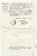 MAINE ET LOIRE De FONTEVRAULT Lettre Du Directeur De La Prison Du 22/05/1836 (verso Vierge) - Manuscrits