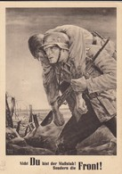 Generalgouvernement GG, Gedenkkarte/Propagandakarte Sonderstempel 1943 - Besetzungen 1938-45