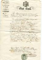 MAINE ET LOIRE De BEAUFORT EN VALLEE Extrait D'acte De Décès De 1847 - Manuscrits