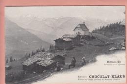 OUDE POSTKAART  - ZWITSERLAND - SCHWEIZ - SUISSE -   BETTMEN ALP - CHOCOLAT KLAUS - VS Valais