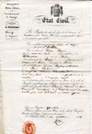 MAINE ET LOIRE De BEAUFORT EN VALLEE Extrait D'acte De Décès De 1843 - Manuscrits