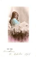 """Little Girl In Bed. Very Tired""  Tuck Golden Childhood Ser. PC # 5228 - Tuck, Raphael"