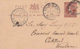 NATAL 1898    ENTIER POSTAL/GANZSACHE/POSTAL STATIONERY  CARTE DE PINETOWN - South Africa (...-1961)