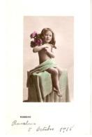 """""""Little Girl With Flowers. Rosebuds  Tuck Golden Childhood Ser. PC # 5228 - Tuck, Raphael"""