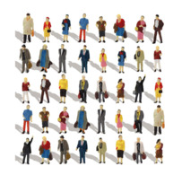 Diorama : 40 People Pack   ( Tomytec ) 1/87 - Small Figures