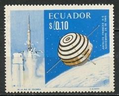 Equateur - Ecuador 1967 Y&T N°762 - Michel N°(?) *** - 10c Coopération Spatiale - Equateur