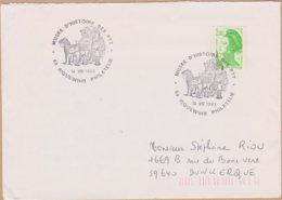 ENVELOPPE TIMBRE 1983 MUSEE D'HISTOIRE DES P.T.T. (RIQUEWIHR) PHILATELIE) - Marcophilie (Lettres)