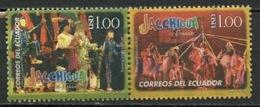 Equateur - Ecuador 2009Y&T N°2123 à 2124 - Michel N°(?) (o) - Groupe Folklorique - Equateur