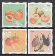 2017 Algeria Algerie Fruits Peaches Vegetables  Complete Set Of 4  MNH - Algerien (1962-...)