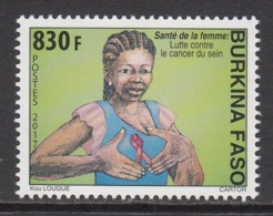 2017 Burkina Faso Breast Cancer Awareness Health Complete Set Of 1  MNH - Burkina Faso (1984-...)