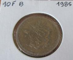 France - Monnaie 10 Francs Mathieu 1985 - Tranche B - Millésime Rare - TTB - Monnaie Sous Capsule - K. 10 Francs