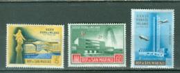 Saint-Marin   Yvert  445/446  Et PA  107     * *  TB - Saint-Marin