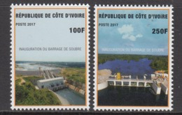 2017 Cote D'Ivoire Ivory Coast New Dam Hydro Complete Set Of 2  MNH - Ivoorkust (1960-...)