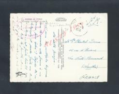 MILITARIA MAROC CPSM EN FRANCHISE MILITAIRE 1958 TAMPON AVIATION  BPAM AÉRONAUTIQUE NAVALE  DE PORT LYANTEY : - Maroc (1956-...)