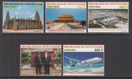 2018 Cote D'Ivoire Ivory Coast Links With China Aviation Complete Set Of 5  MNH - Ivoorkust (1960-...)