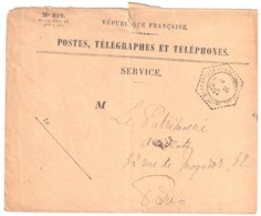 BLOSSEVILLE BONSECOURS Seine Inf Enveloppe SERVICE N° 819 Franchise Ob 1931 Agence Postale Hexagone Pointillé Lautier F4 - Postmark Collection (Covers)