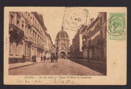 19008 Bruxelles - La Rue Royale Et L'Eglise Ste Marie De Schaerbeck Fn Anno 1901 - Monuments, édifices