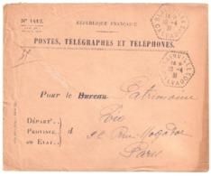 BLAINVILLE Calvados Enveloppe De SERVICE N° 1417 Franchise Ob 1931 Agence Postale Hexagone Pointillé Lautier F4 - Marcophilie (Lettres)